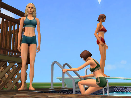 ... below to download these swimsuits for adult female sims in The Sims 2.