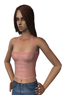 The Sims 2: Young Adult Black Lace Top by The Pearl